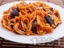 Рецепта Паста с патладжан и сушени домати
